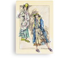Country Girls or Chicas Del Campo Canvas Print