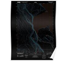 USGS Topo Map Oregon Howard Bay 20110902 TM Inverted Poster