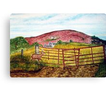 Cottage on the Hill Canvas Print