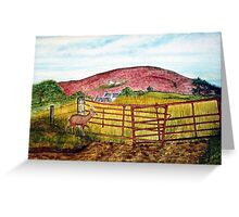 Cottage on the Hill Greeting Card