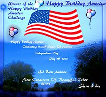 -AMERICA IS HAVING A BIRTHDAY PARTY !! CHALLENGE... july 4th 2011 by Sherri     Nicholas