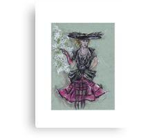 The Feathered Hat or El Sombrero de Plumas Canvas Print