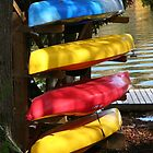 Colourful Canoes - Algonquin Outfitters by Carolyn  Reinhart