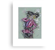 The Silk Hat or El Sombrero de Seda Canvas Print
