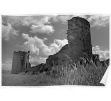 Flint Castle Ruins. N Wales. UK Poster