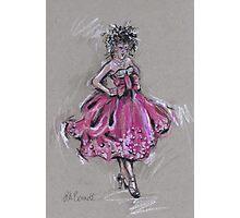 The Pink Dress or El Vestido Rosa Photographic Print