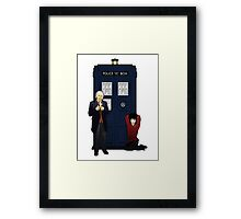 The First Doctor and Susan Framed Print