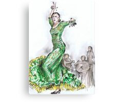 Green Flamenco or Flamenco Verde Canvas Print