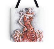 Red Flamenco or Flamenco Rojo Tote Bag