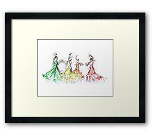 Flamenco in Colour or Flamenco en Color Framed Print