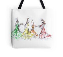 Flamenco in Colour or Flamenco en Color Tote Bag