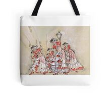 Flamenco in the Street or Flamenco Por La Calle Tote Bag