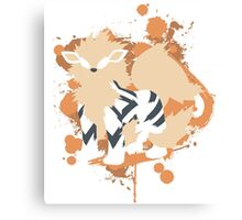 Arcanine Cutout (Pokemon) Canvas Print