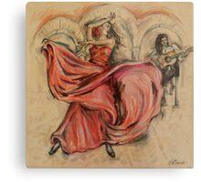 Flamenco Rapido Metal Print