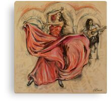 Flamenco Rapido Canvas Print