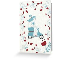 vespa couple Greeting Card