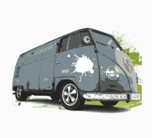 VW Split screen - Green Paint Splash by jay007