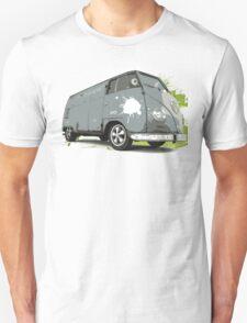 VW Split screen - Green Paint Splash T-Shirt
