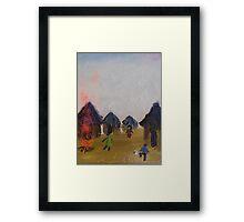 Happy Community Framed Print