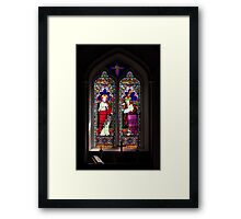 Stained glass at Orcheston St Mary Framed Print