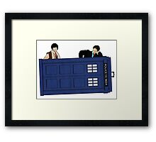 The Second Doctor and Jamie Framed Print