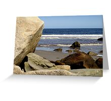 Boulders on the Beach Greeting Card