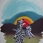 Zebra Dawn by Pieter Oosthuizen