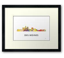 Des Moines, Iowa Skyline WB1 Framed Print