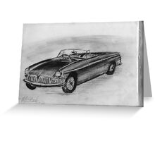 1963 MGB - Classic Car Greeting Card