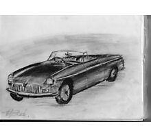 1963 MGB - Classic Car Photographic Print