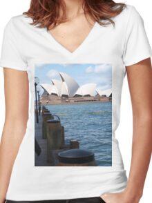 Sydney Opera House Women's Fitted V-Neck T-Shirt