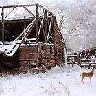 Rustic Barn -- Cue Deer by David Kocherhans