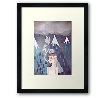 About love Framed Print