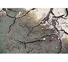 Cracking Clay Photographic Print
