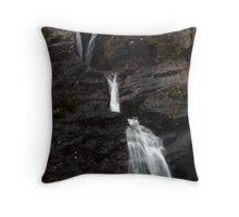 glen coe water fall Throw Pillow