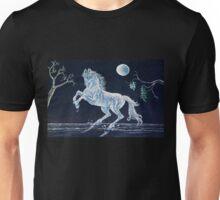 White Horse Under Moon T-Shirt