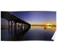 """One Saturday Morning"" Urangan Pier, Hervey Bay, Qld Poster"