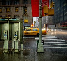 Rainy evening in Manhattan by Laurent Hunziker