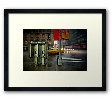 Rainy evening in Manhattan Framed Print