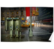 Rainy evening in Manhattan Poster