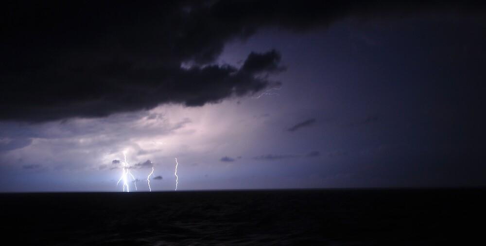 Lightning, Mediterranean Sea by Dean Bailey