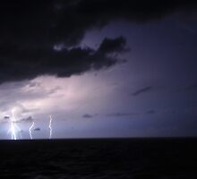 Lightning, Mediterranean Sea by Dean Bailey