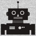 Retro Robot Shape BLK by mdkgraphics