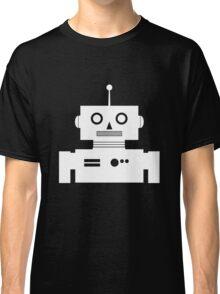 Retro Robot Shape Wht Classic T-Shirt