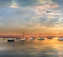 Corio Bay Evening by Heather Prince ( Hartkamp )