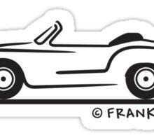 Karmann Ghia Coupe BLK Sticker