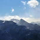 Panorama of Windblown Snow-Wasatch Range by Ryan Houston
