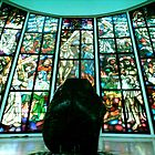 stained glass window -church of the Gesu by lensbaby