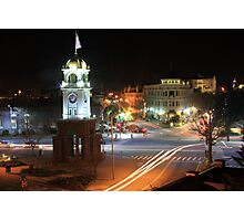 Cock Tower Intersection - Downtown Santa Cruz Photographic Print