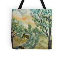 Down by the creek, watercolor Tote Bag